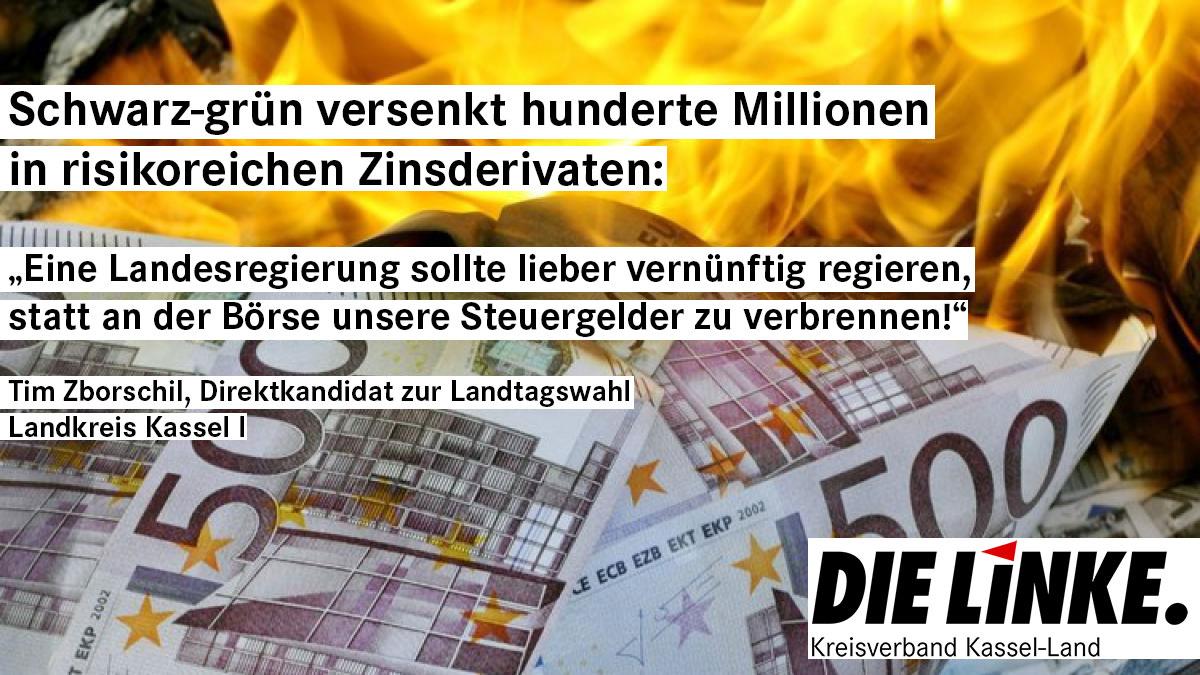 Schwarz-grün verzockt sich an der Börse: Hunderte Millionen an Steuergeldern in hoch riskanten Zinsderivaten versenkt!