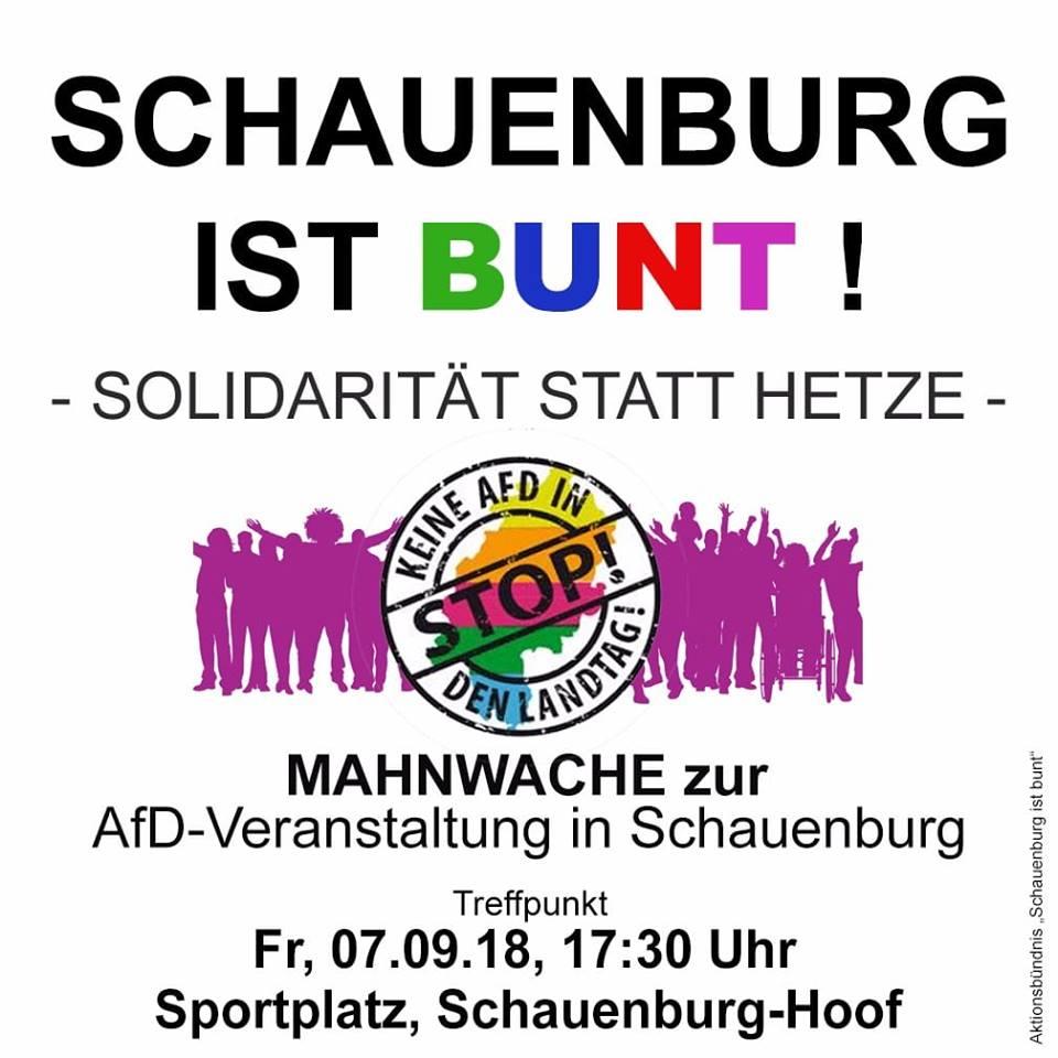 AfD mit Gauland in Schauenburg – Zeigen wir uns gegen rechts!