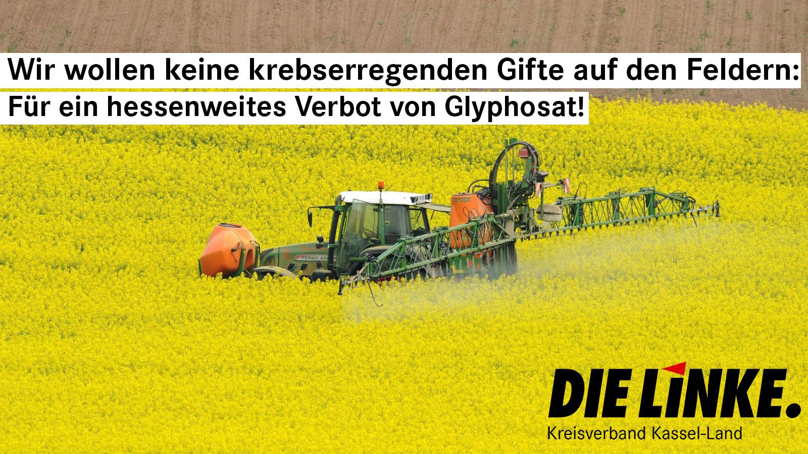 Glyphosat tötet – erst alles Grün und Leben auf dem Acker, dann gelangt es in unsere Gewässer und in unsere Lebensmittel!