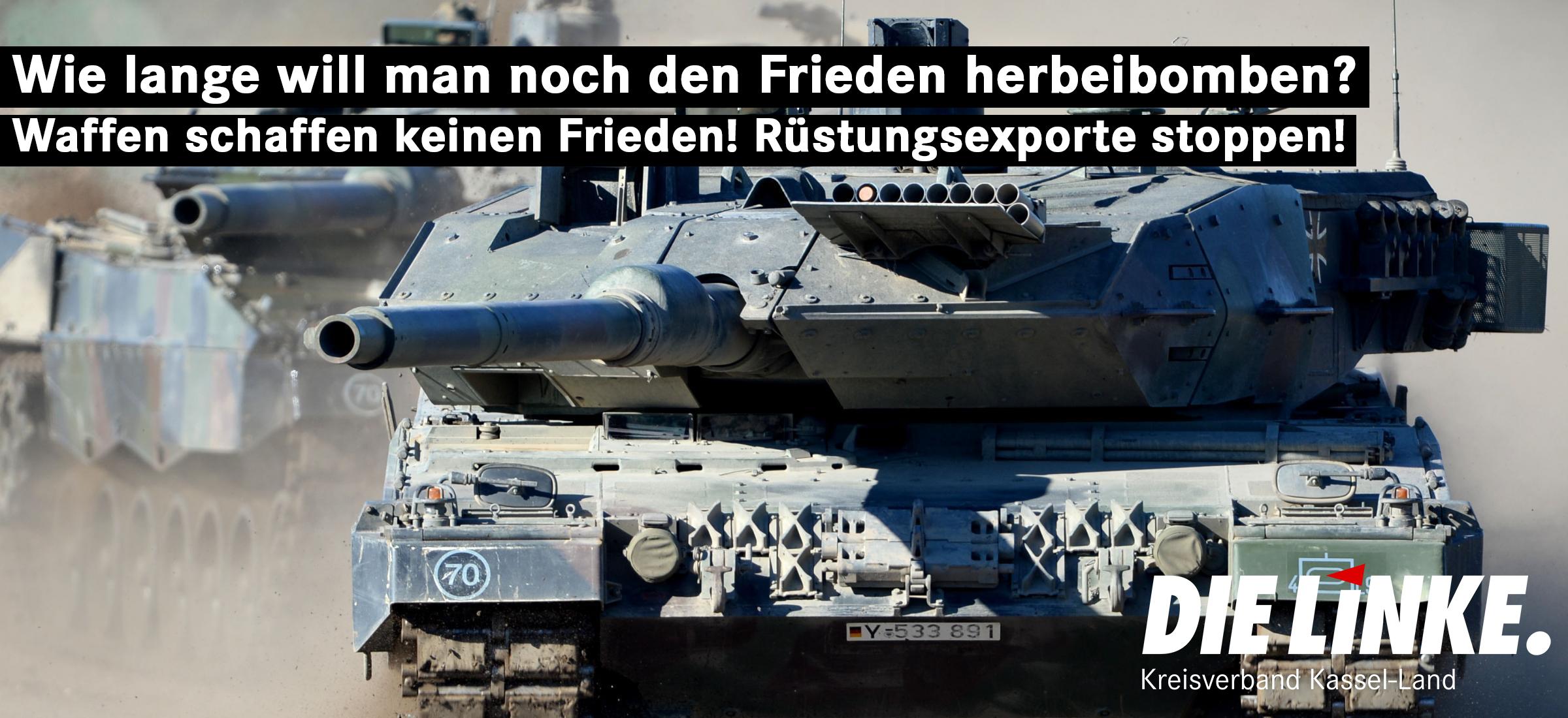 Kassel ist das Zentrum der hessischen Rüstungsproduktion